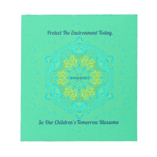 #Resist Protect Environment Anti-Trump Mandala Notepad