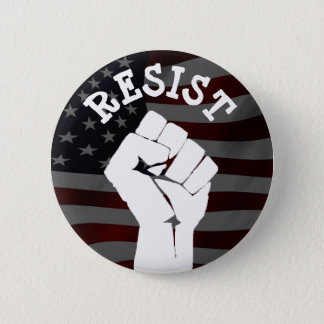 #Resist Protester Fist Anti-Trump Political Button
