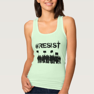 "#Resist  Protesters Anti-Trump"" Political Singlet"