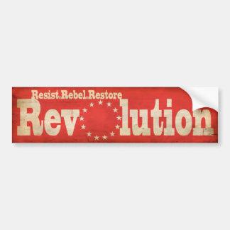 Resist Rebel Restore Revolution Bumpersticke(Red) Bumper Sticker