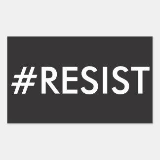 #RESIST RECTANGULAR STICKER
