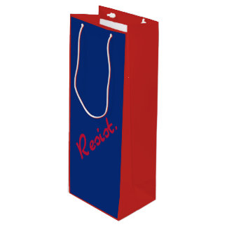 Resist Red and Blue Resistance Wine Gift Bag