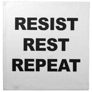 Resist, Rest, Repeat Napkin