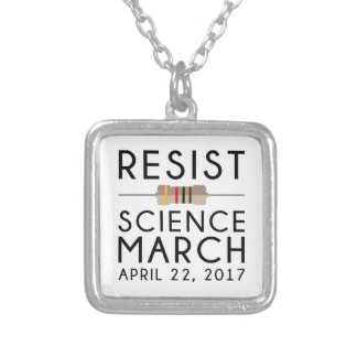 Resist Science March Silver Plated Necklace