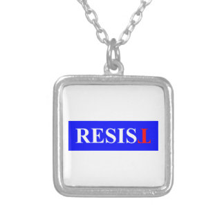 Resist Silver Plated Necklace