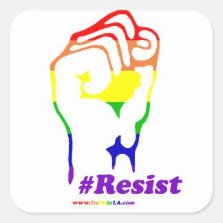 #Resist Square Sticker