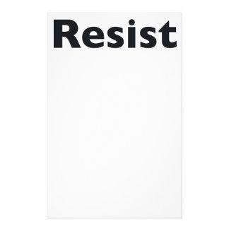 Resist Stationery