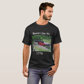 Resist T-shirt with Colonial Cannon