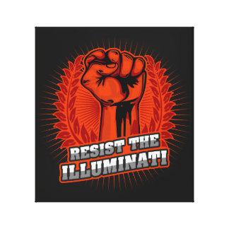 Resist The Illuminati Orange Raised Fist Canvas Print