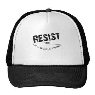 Resist The New World Order Trucker Hat