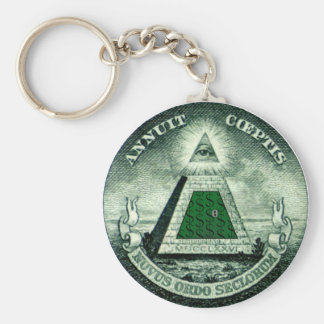 Resist the NEW WORLD ORDER Keychains