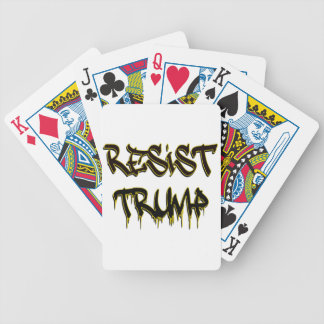 Resist Trump Bicycle Playing Cards