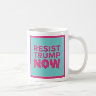 RESIST TRUMP NOW logo blue-pink mug