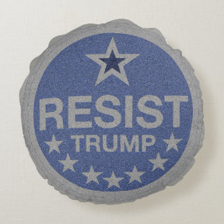 Resist Trump Round Cushion