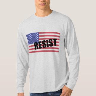 Resist Trump USA Flag T-Shirt