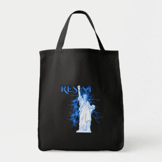 Resist With Lady Liberty Grocery Tote