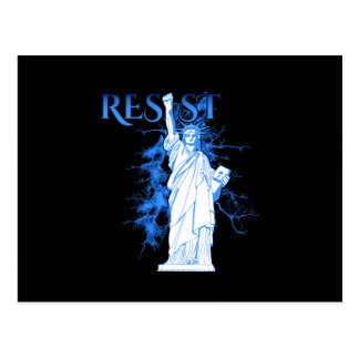Resist With Lady Liberty Postcards