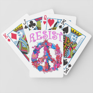 Resist with Peace Bicycle Playing Cards