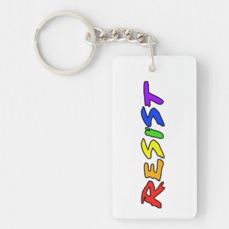Resist with Pride! Key Ring