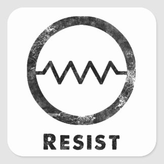 """Resist"" with text Square Sticker"