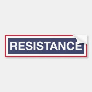 RESISTANCE BUMPER STICKER