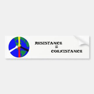 Resistance = Coexistance Bumper Sticker