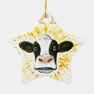 Resistance Dairy Cow Ceramic Star Decoration