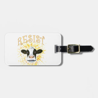 Resistance Dairy Cow Luggage Tag