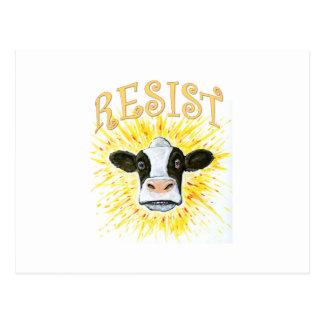 Resistance Dairy Cow Postcard