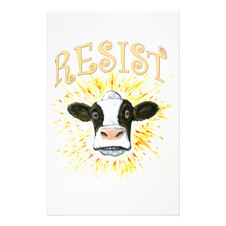 Resistance Dairy Cow Stationery