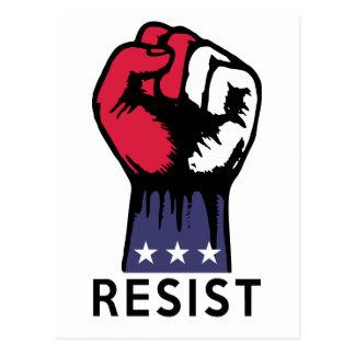 Resistance Fist Fight Political Corruption Postcard