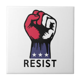 Resistance Fist Fight Political Corruption Small Square Tile