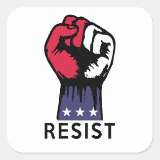 Resistance Fist Fight Political Corruption Square Sticker