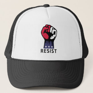 Resistance Fist Fight Political Corruption Trucker Hat