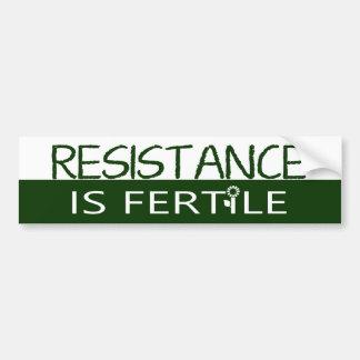 Resistance is Fertile Bumper Sticker