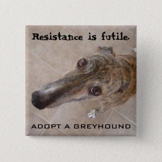 Resistance is futile. 15 cm square badge
