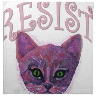 Resistance Kitten Napkin