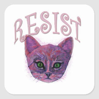 Resistance Kitten Square Sticker