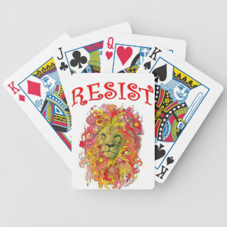 Resistance Lion Bicycle Playing Cards