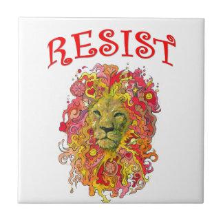 Resistance Lion Ceramic Tile