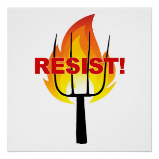 Resistance Torch and Pitchfork Poster