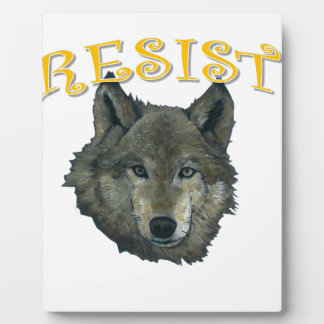 Resistance Wolf Plaque