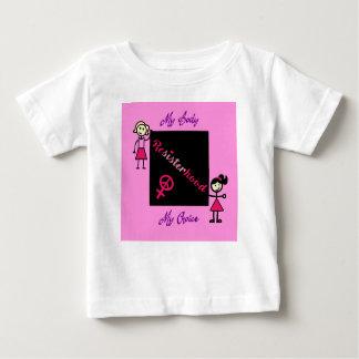 Resisterhood Stick Figures Pink Background My Body Baby T-Shirt