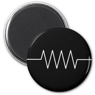 resistor_black 6 cm round magnet