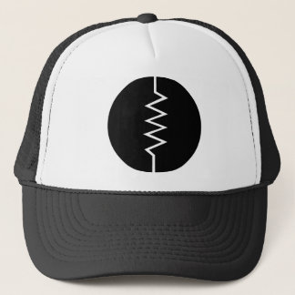Resistor Symbol - Circled Trucker Hat