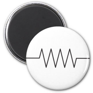 Resistor Symbol 6 Cm Round Magnet