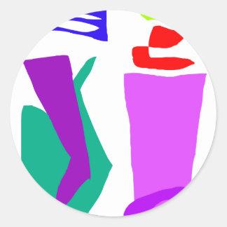 Resort Round Stickers