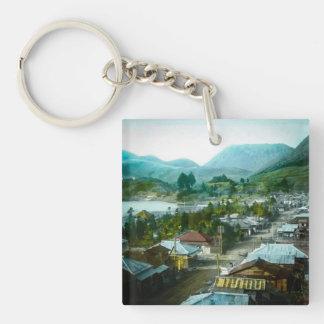 Resort Village of Hakon Lake Ashi in Old Japan Single-Sided Square Acrylic Key Ring