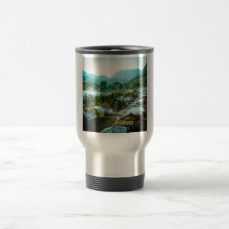 Resort Village of Hakon Lake Ashi in Old Japan Travel Mug