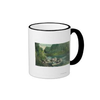 Resorters Boating at the Springs Coffee Mug